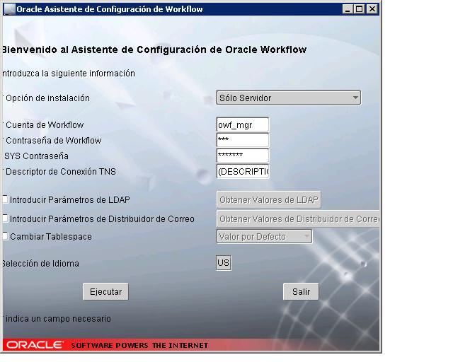 Asistente de configuración OWF